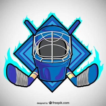 Hockey Emblem Free Vector