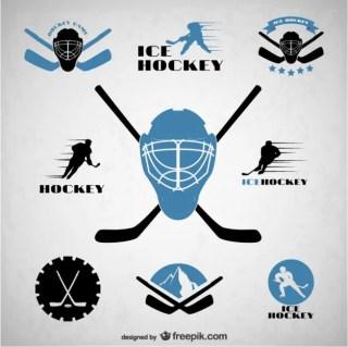 Hockey Emblems Free Vector