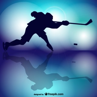 Hockey Player Silhouette Free Vector