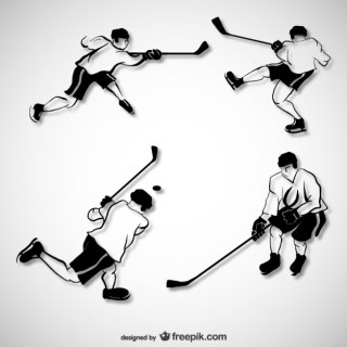 Hockey Players Free Vector