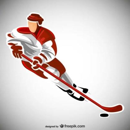 Hockey Sport Player Free Vector