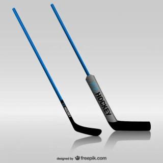 Hockey Sticks Free Vector