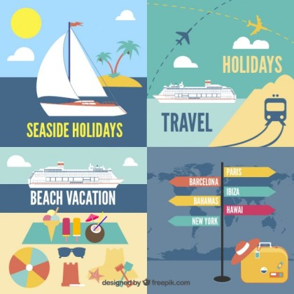 Holidays Icons Free Vector