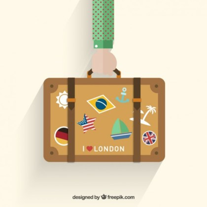 Holidays Suitcase Free Vector
