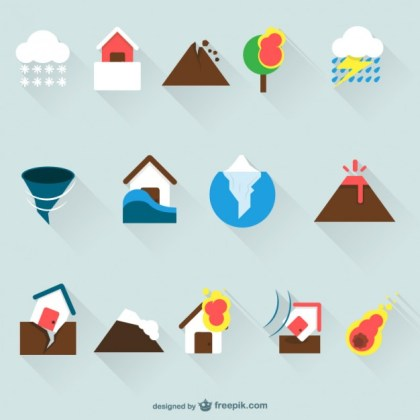 Home Insurance Icons Free Vector