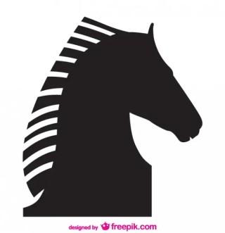 Horse Vector Silhouette Design Free Vector