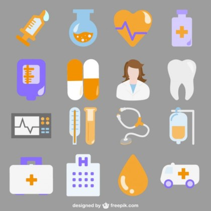 Hospital Icons Free Vector