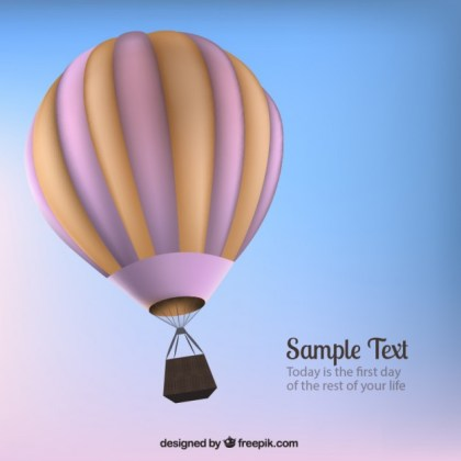 Hot Air Balloon Free Vector