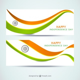 India Independence Day Banners Free Vector