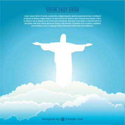 Jesus Christ Brazilian Symbol Art Free Vector