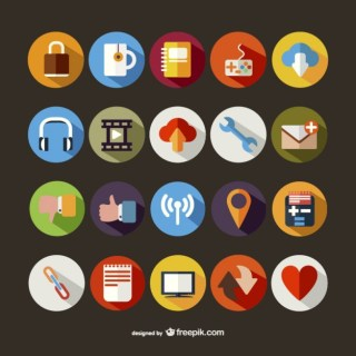 Large Round Icons Pack Free Vector