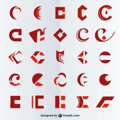 Letter C Symbols Free Vector