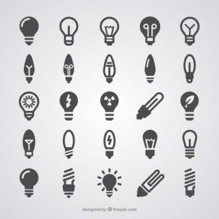 Light Bulb Icons Free Vector