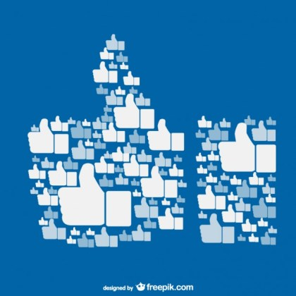 Like on Facebook Concept Free Vector