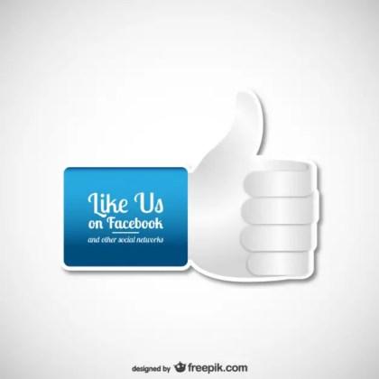 Like Us on Facebook Free Vector