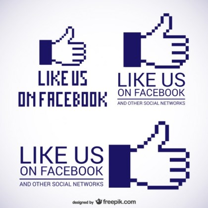 Like Us on Facebook Logos Free Vector