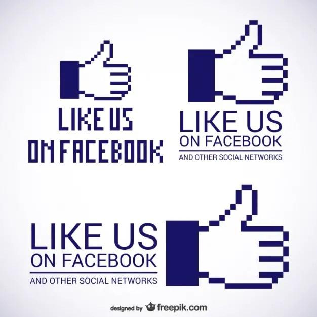 Like Us on Facebook Logos Free Vector
