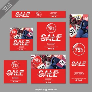 Limited Time Sale Banners Free Vector