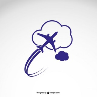 Logo Template with Airplane Free Vector
