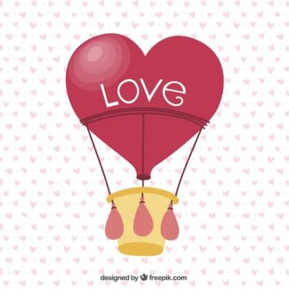 Love Air Balloon Free Vector