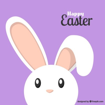 Lovely Easter Bunny Free Vector