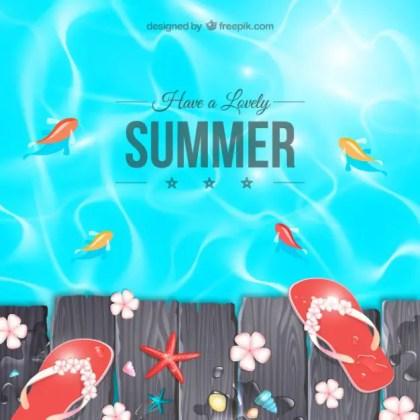 Lovely Summer Free Vector