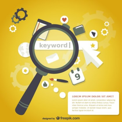 Magnifying Glass Keyword Search Free Vector