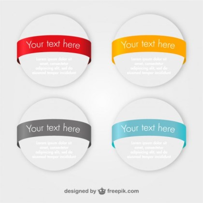 Marketing Banners Round Design Free Vector