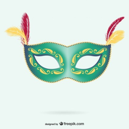 Mask for Carnival Free Vector