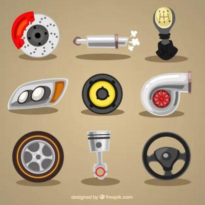 Mechanic Elements Free Vector