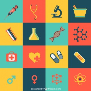 Medical Flat Icons Free Vector