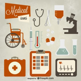 Medical Icon Set Free Vector