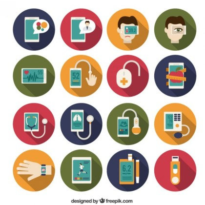 Medical Instrument Icons Free Vector