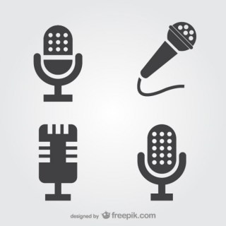 Microphone Icons Free Vector