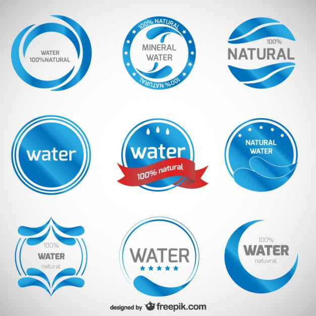 Mineral Water Logos Collection Free Vector