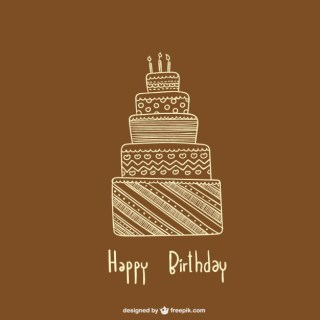 Minimalist Birthday Card Free Vector