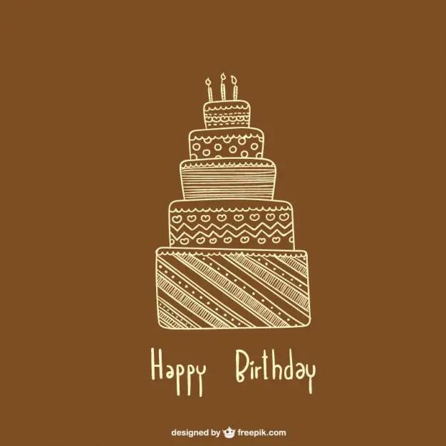 Minimalist Birthday Card Free Vector