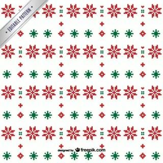 Minimalist Christmas Pattern Free Vector