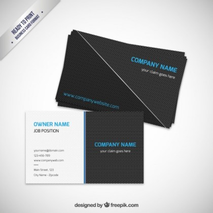 Modern Business Card Template Free Vector