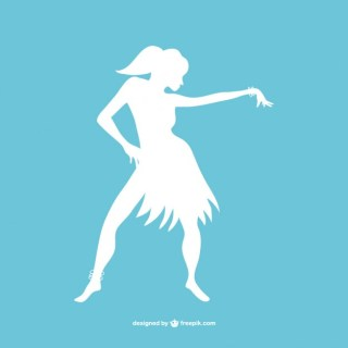 Modern Dancer Silhouette Art Free Vector