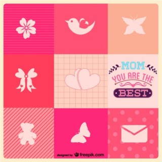 Mothers Day Free Icons Template Free Vector