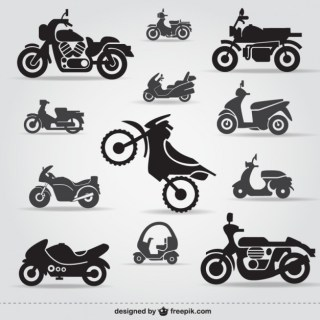 Motorcycle Icons Free Free Vector