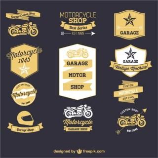 Motorcycle Retro Labels Free Vector
