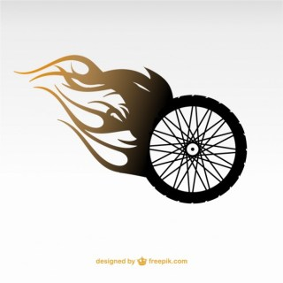 Motorcycle Wheel Logo Free Vector