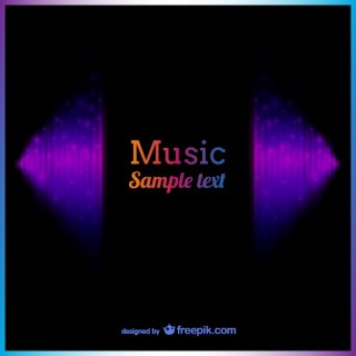Music Background Template Free Vector