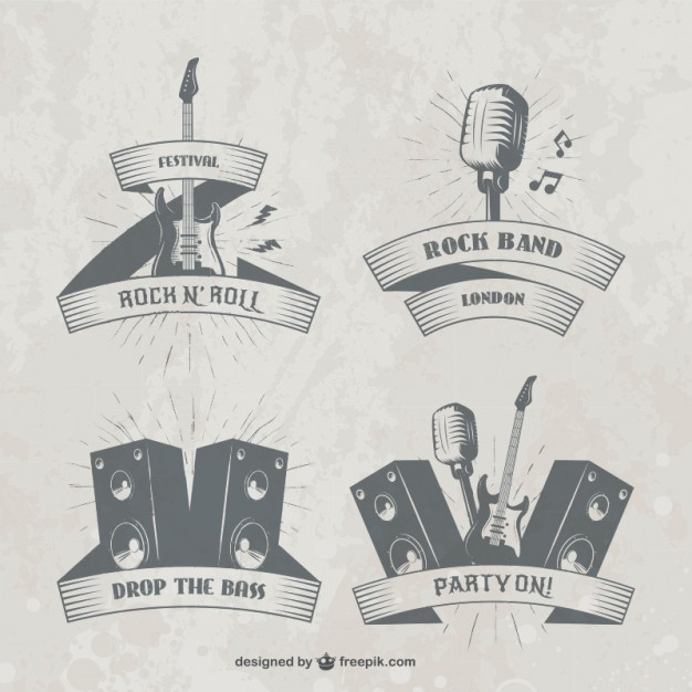 Music Festival Badges Free Vector