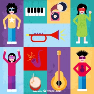 Music Flat Free Vector