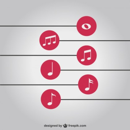 Music Notes Simple Background Free Free Vector