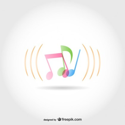 Music Notes Template Free Vector