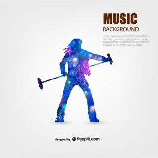 Music Performer Background Free Vector